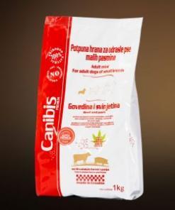 Pasja hrana Canibis z omega 3, 6 in 9 svinjina 1kg